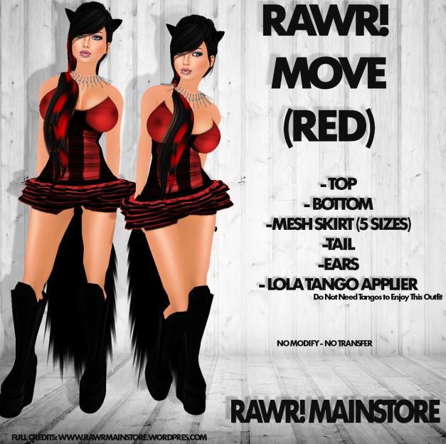 RAWR! MOVE Red Outfit PIC